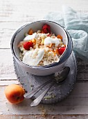 Millet breakfast bowl with fruits