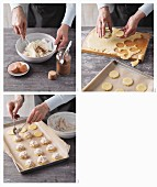 Almond biscuits being made