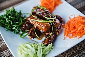 Glazed Thai chicken with vegetables