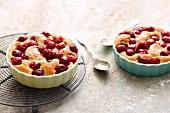 Quick and easy mini cherry clafoutis