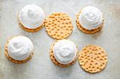 Homemade marshmallow kisses