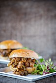 Curried chickpea sliders