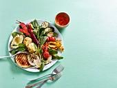 Grilled rainbow salad