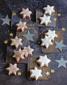 Cinnamon stars and marzipan stars