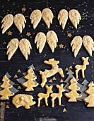 Butterplätzchen klassisch, mit Mandeln und mit Orangenzucker