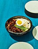 Jajanmyeaon - Korean noodles in black bean sauce