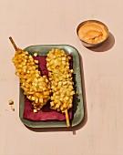 A Korean potato hotdog