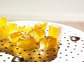 Candied orange peel cubes