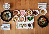 Verschiedene koreanische Gerichte