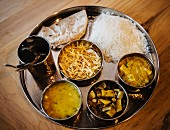 Dal-bhat-tarkarin, a Nepali cuisine