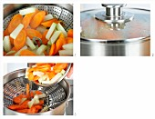 How to cook mixed vegetables in a steamer