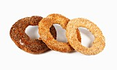 Simit (ring-shaped yeast pastries with sesame seeds, Turkey)