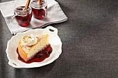 Drunken Capuchin (hazelnut cake in spiced wine, Austria)