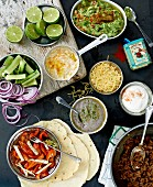 Taco ingredients and fillings (Mexico)