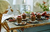 Chocolate mousse with ginger for Christmas