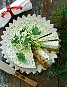 Spicy green cabbage cheesecake (Christmas)