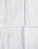 A white fabric background