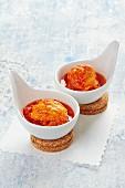 Cod a la Gallega (Cod in tomato sauce, Spain)