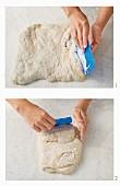 Fold the bread dough