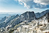 A marble quarry in the Apuan Alps, Carrara, Italy