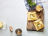 Crêpes with apple and goat's cheese