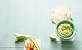 Coriander and lime hummus