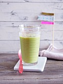 A cucumber, pineapple, and avocado smoothie - 'green cooler'