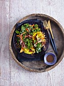 A curly kale salad with beetroot and carrot - 'Green Beast'