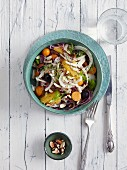 A fennel and orange salad with physalis - 'Winter Sunshine'