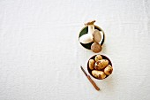 Kräuterseitlinge und Kartoffeln (Zutaten für Kartoffel-Pilz-Suppe)
