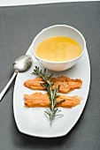 Sweet potato and vanilla soup