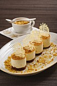 Petit fours with brittle