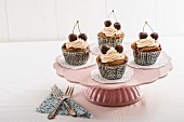 Chocolate and cherry cupcakes