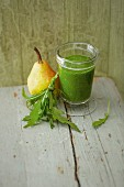 An 'Emerald Forest' smoothie with pear