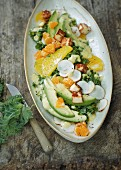 Kale and avocado salad with citrus fruit