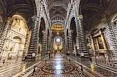 The Santa Maria cathedral in Siena, Tuscany, Italy
