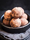 A bowl of homemade DIY energy protein balls