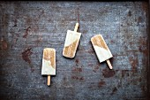 Pear ice lollies on sticks
