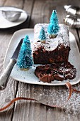 Gluten-free, flourless chocolate cake (Christmas)