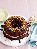 Lavish Layer Peanut and Chocolate Marble Cake