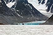 Calving glacier mirage