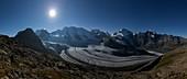 Pers glacier at night, Switzerland