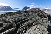 Islet exposed by retreating glacier, Svalbard