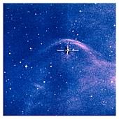 Bow shock around star Vela X-1, optical image