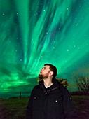 Watching the aurora borealis