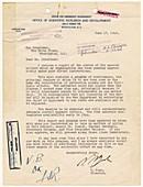 Manhatten Project letter