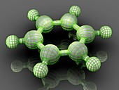 Benzene organic compound molecule