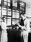 Lise Meitner and Otto Hahn, German chemists