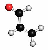 Acrolein or propenal molecule