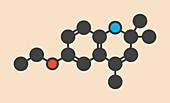 Ethoxyquin antioxidant food preservative molecule
